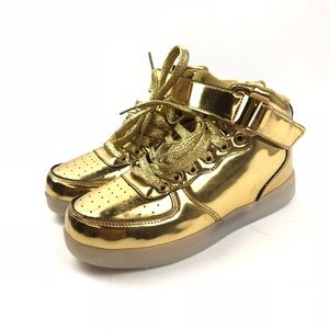 Shoes Annabelz Gold High Top Light Up Sneakers Poshmark